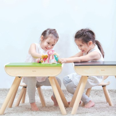 Plan Toys Children's Desk - Slate Chalk Board Top-listing