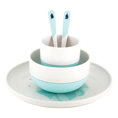 Superpetit Iceberg Bamboo Dinner Set - Set of 5 pieces-listing