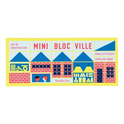 Moulin Roty Town Construction Block Game - 23 Pieces & 1 Poster-listing