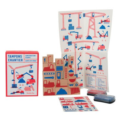 Moulin Roty Set of 23 Construction Stamps-listing