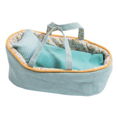 Moulin Roty Small Doll's Bassinet 22x13cm-listing