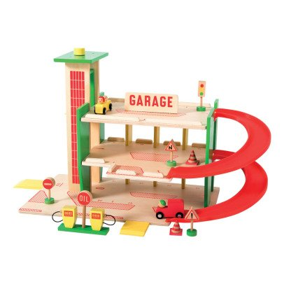 Moulin Roty Wooden Garage & 11 Accessories-listing