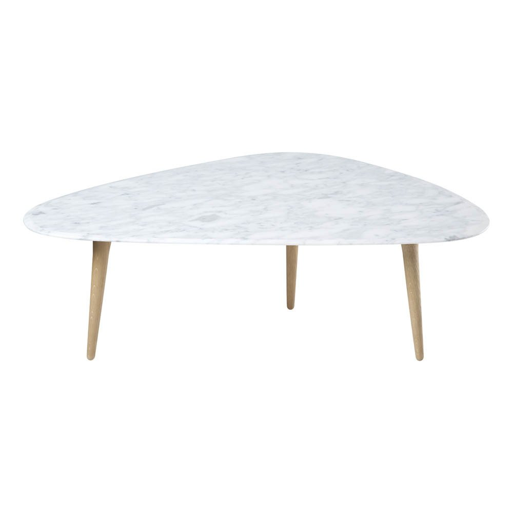 Table basse ch ne massif marbre marbr blanc red edition for Table basse marbre