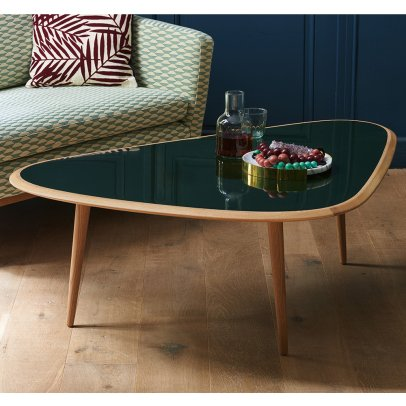Red Edition Solid Oak Coffee Table-listing