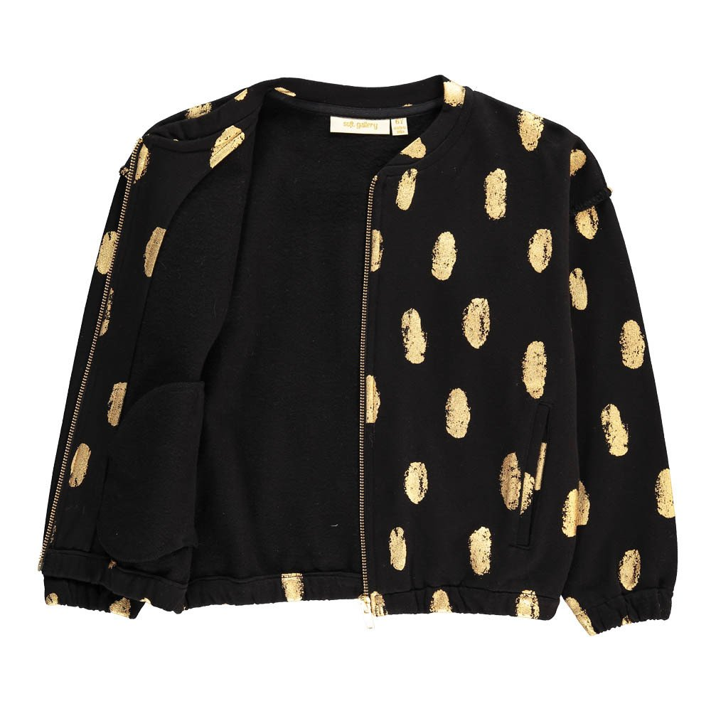 Gold Polka Dot Zipped Sweatshirt-product
