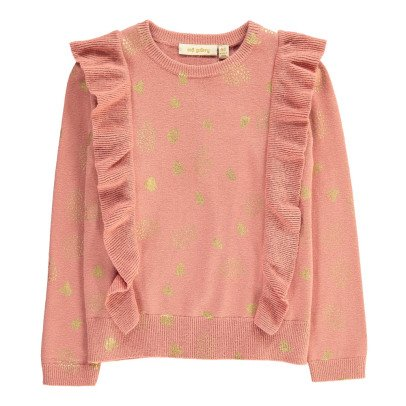 Soft Gallery Gold Dot Ruffled Jumper-product