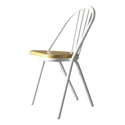 DCW Editions Gras Surpil Chair With White Frame & Wooden Seat-listing