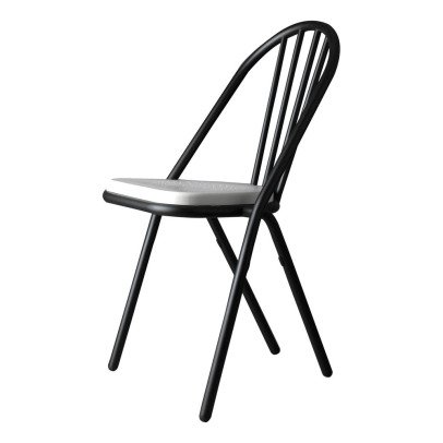 DCW Editions Gras Surpil Chair With Black Frame & Wooden Seat-listing