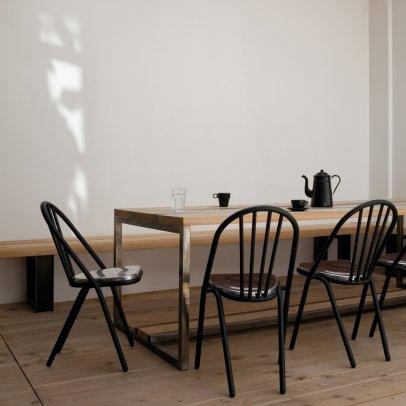 Stuhl holz schwarz voglauer v solid stuhl sehp stapelbar vsolid in wildeiche rustiko schwarz - Stuhl holz schwarz ...