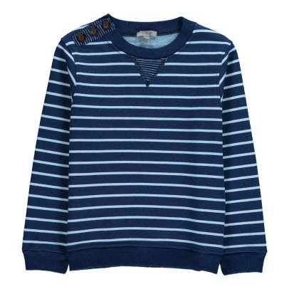 Emile et Ida Striped Sweatshirt With Buttons-listing