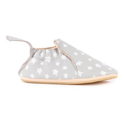 Easy Peasy BluBlu Star Leather Slippers-listing