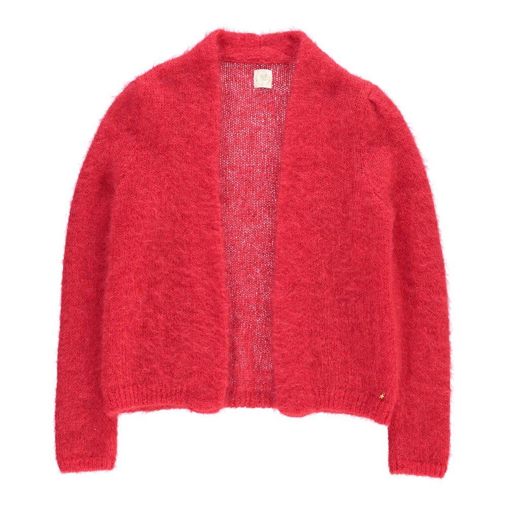 Abikou Mohair Cardigan Red Des petits hauts Fashion Adult