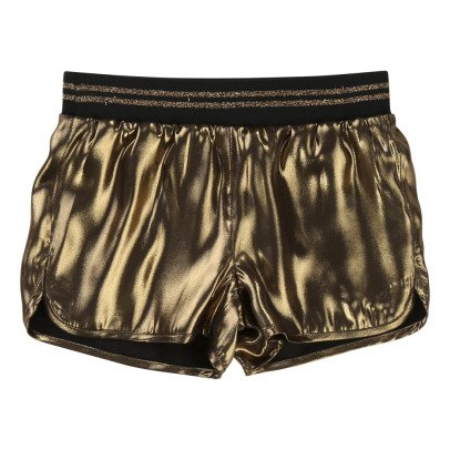 Little Marc Jacobs Black Viscose Reversible Satin Shorts-listing