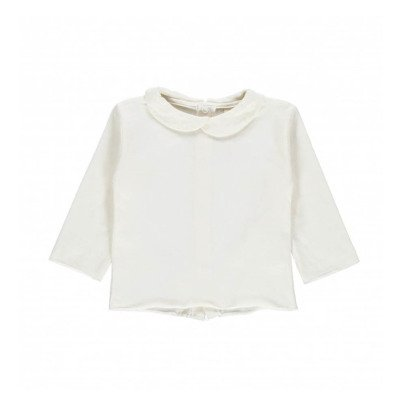 Gray Label Organic Cotton Peter Pan Collar T-Shirt-listing