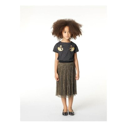 Little Marc Jacobs Swan Patch Striped T-Shirt-listing