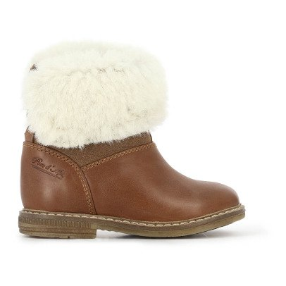 Pom d'Api Chabraque Retro Fur Lined Leather Boots-listing
