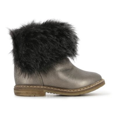 Pom d'Api Chabraque Retro Bronze Fur Lined Leather Boots-listing
