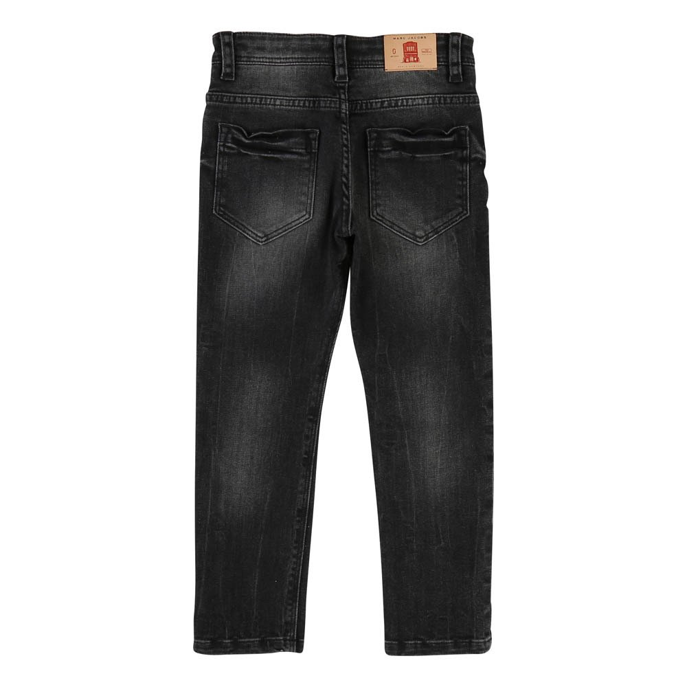Leather Jacron Adjustable Waist Slim Jeans-product