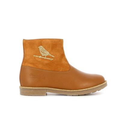 Boots Bi-Matière Cuir et Suède Oiseau New Strip