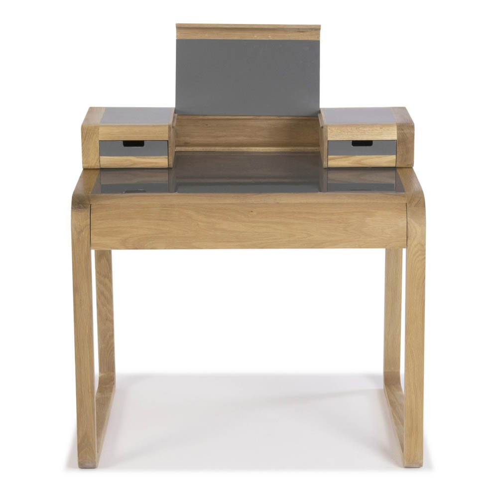 Bureau chne massif laque sur MDF Grey Red Edition Design Adult