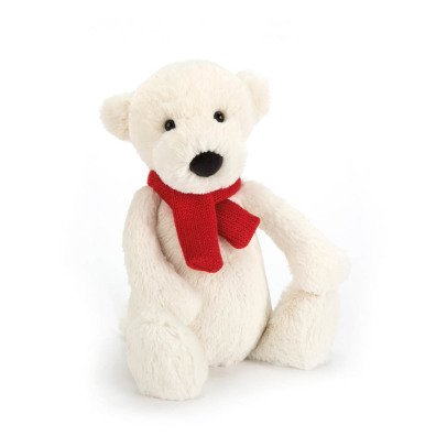 Jellycat Peluche ours polaire Bashful 20 cm-listing