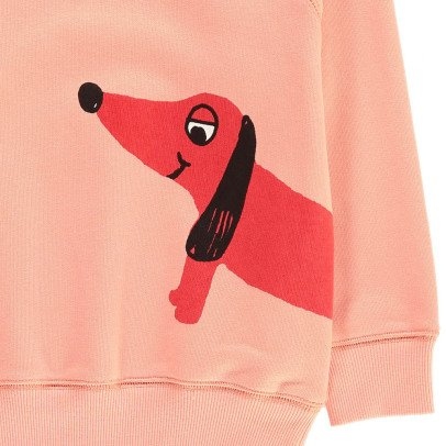 Mini Rodini Organic Cotton Recto Verso Dog Sweatshirt-listing