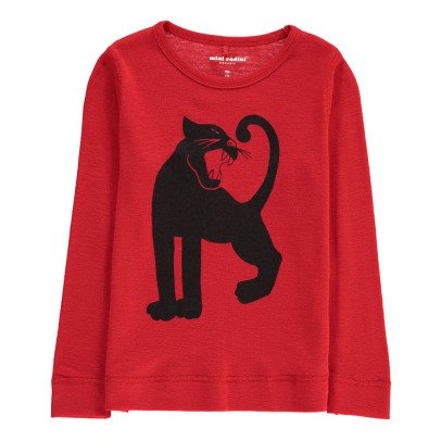 Mini Rodini Merino Wool Panther T-Shirt-listing
