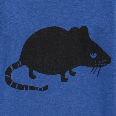 Mini Rodini Merino Wool Mouse T-Shirt-listing