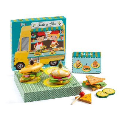 Djeco Emile and Olive Fast Food Game-product