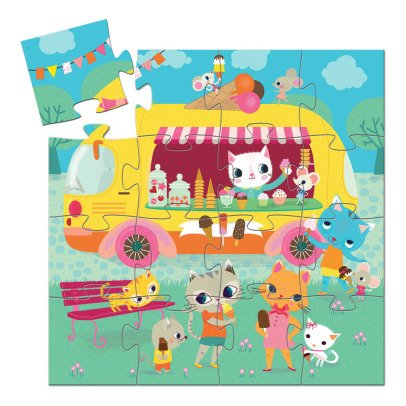 Djeco Ice Cream Van Puzzle - 16 Pieces-listing
