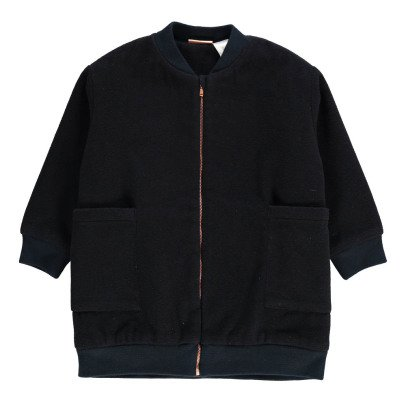 Tinycottons Wool Long Baseball Jacket-listing