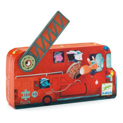 Djeco Fire Engine Puzzle - 16 Pieces-listing