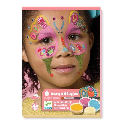Djeco Butterfly Face Paint - Set of 6-listing