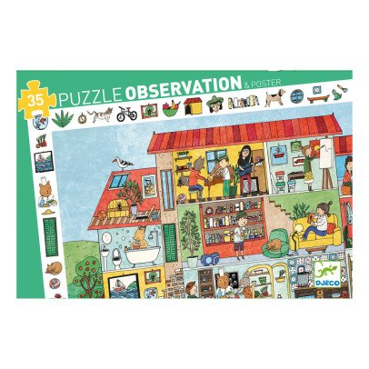 Djeco House Puzzle - 35 Pieces-listing