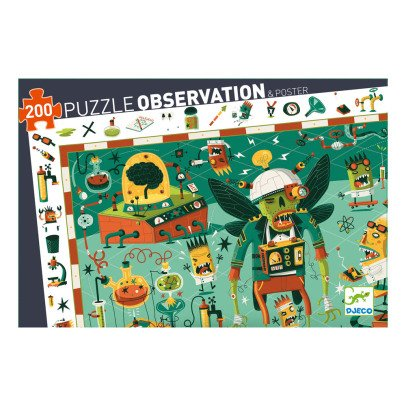 Djeco Puzzle Crazy Lab- 200-teilig -product