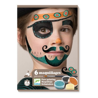 Djeco Pirate Face Paint - Set of 6-listing
