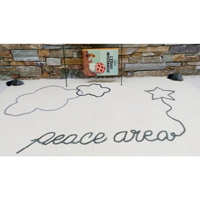 Varanassi Family Spirit Cotton Rug -  Peace Area-listing