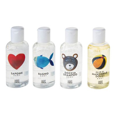 Linea Mamma Baby Pochette: soap, bath wash, shower gel & shampoo and baby oil - 4x100ml-listing