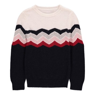Hundred Pieces Zigzag Jumper-listing
