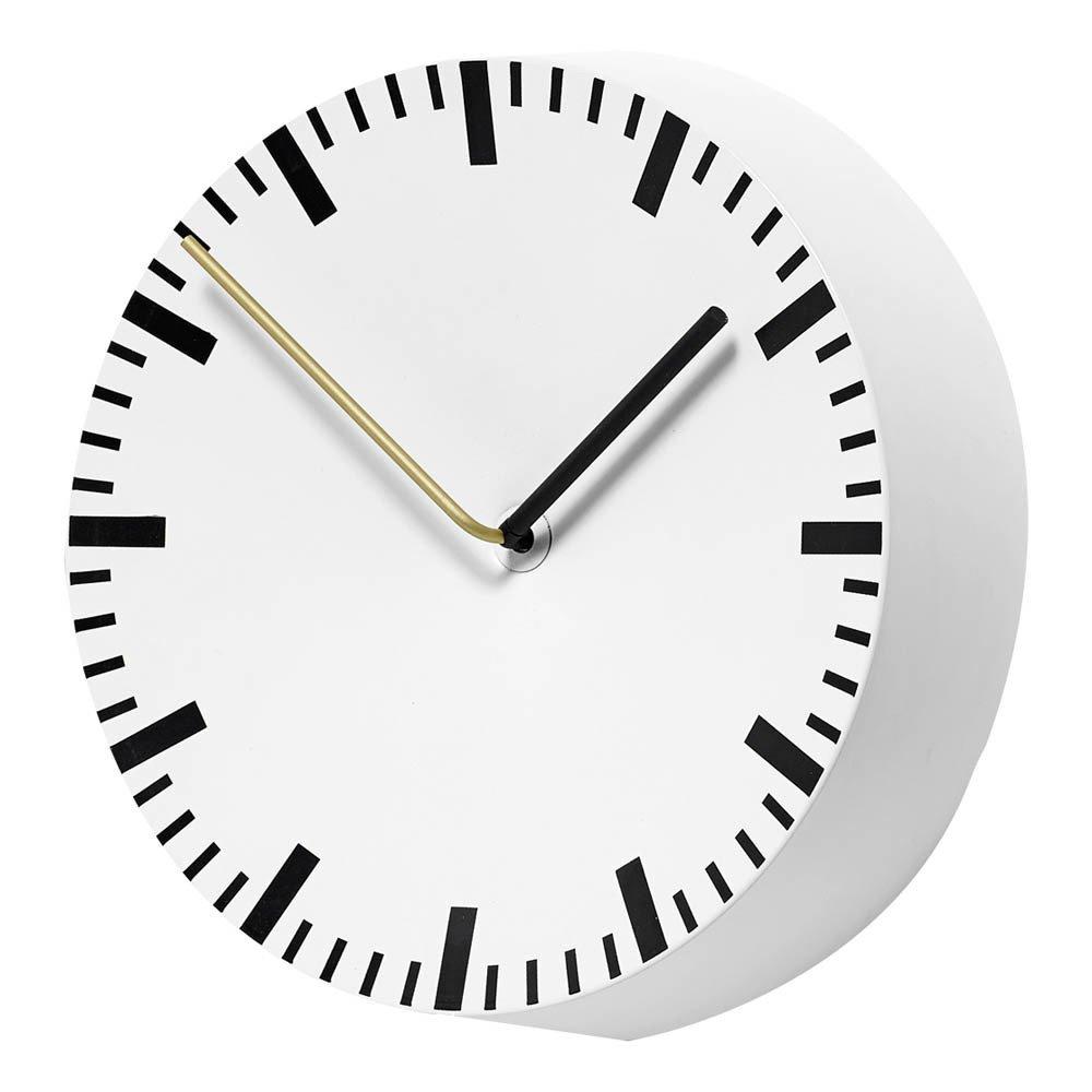 horloge murale analog, shane schneck blanc hay design adulte