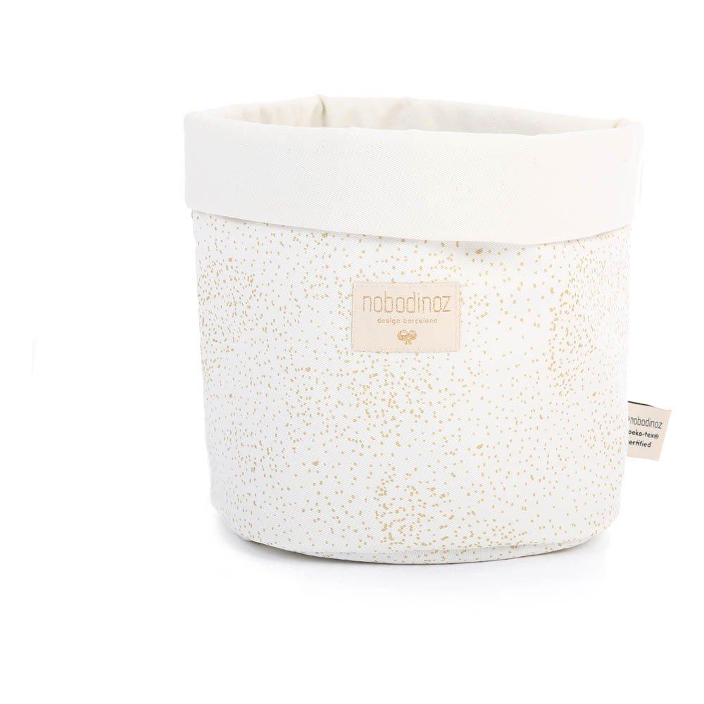 Cesta Panda Bubble de algodón Blanco Nobodinoz Design Infantil