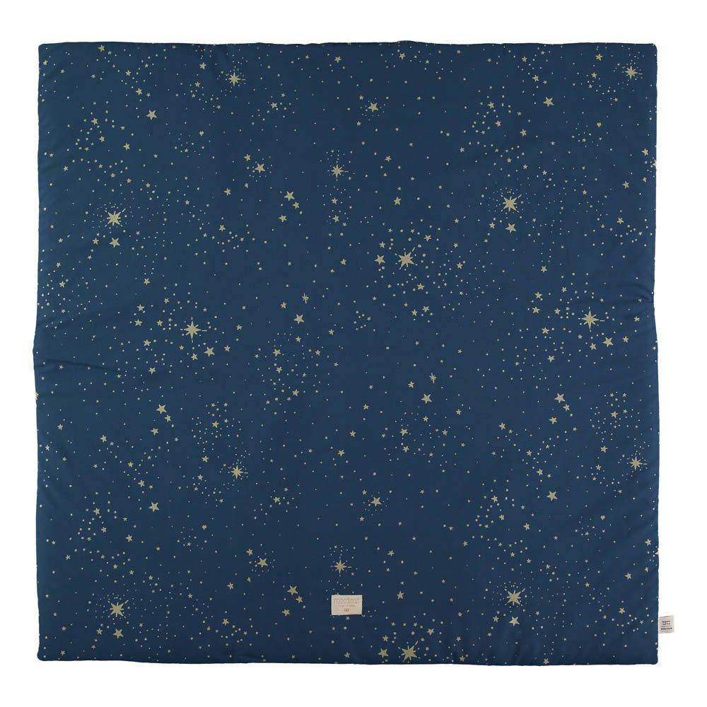 tapis de jeu colorado stella en coton organique bleu nuit. Black Bedroom Furniture Sets. Home Design Ideas