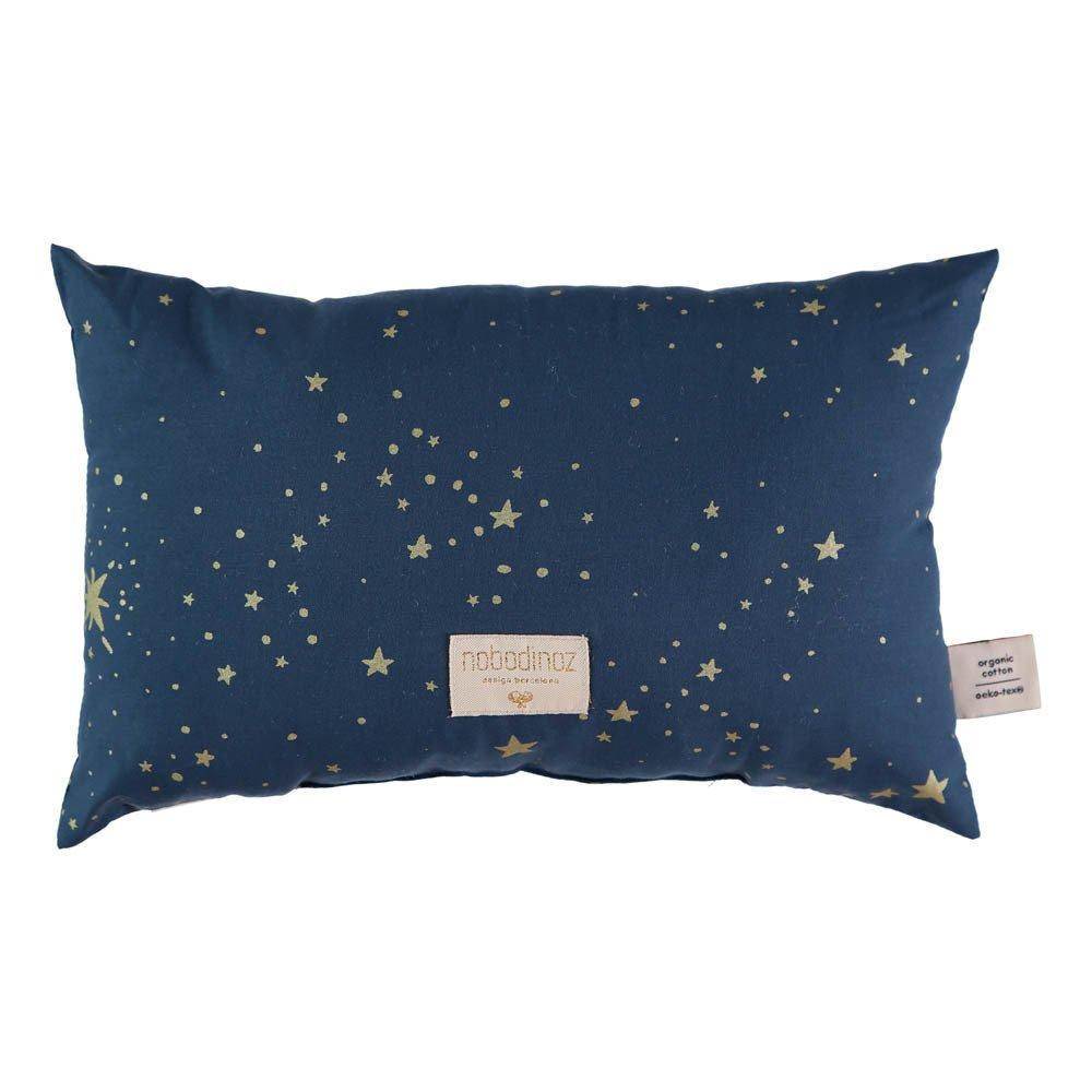 Kissen Laurel Stella Aus Bio Baumwolle 22x35 Cm Nachtblau