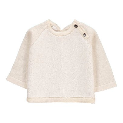 Pequeno Tocon Buttoned Shoulder Dual-Fabric Jumper-listing
