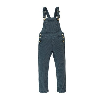 Finger in the nose Worker Striped Dungarees-listing
