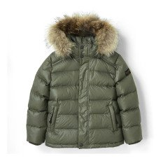 product-Finger in the nose Premium Snowslope Down Jacket With Removable Fur Lined Hood