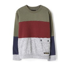 product-Finger in the nose Brian Colourblock Pocket Sweatshirt