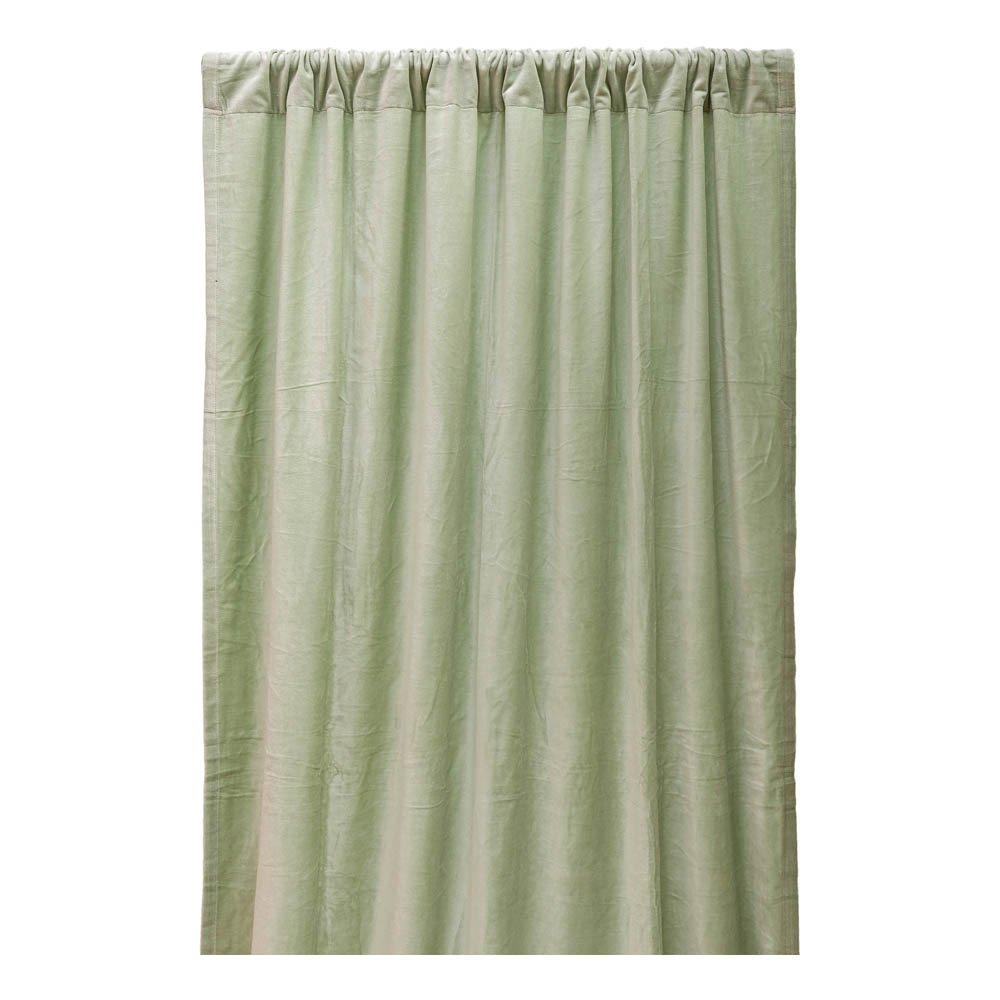 Cotton Velvet Blackout Curtain Sage Liv Interior Design Adult