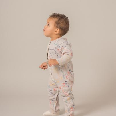 Bobo Choses Organic Cotton Sea Lion Jumpsuit-listing