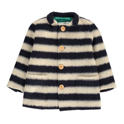 Bobo Choses Striped Wool Coat-listing